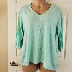 Lane Bryant Ruched Long Sleeve Top